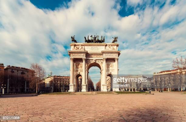 Italy, Lombardy, Milan, Arco della Pace, triumphal arch
