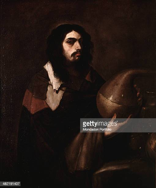 Italy Lombardy Milan Brera Collection Whole artwork view Portrait of a science man holding a phial in his hand