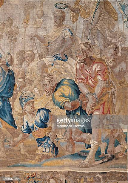 Italy Lombardy Milan Castello Sforzesco Civic Collections of Applied Art Detail From a drawing by Abraham van Diepenbeeck This tapestry is part of a...