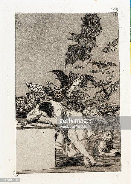 Italy Lombardy Milan Civica Raccolta delle Stampe Achille Bertarelli All Sleeping figure in the foreground Behind night birds and strange creatures...