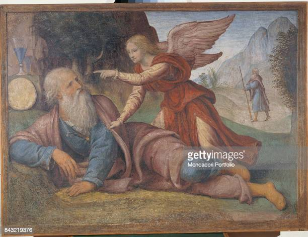 Italy Lombardy Milan Museo Nazionale della Scienza e della Tecnologia Leonardo da Vinci Whole artwork view The Prophet Elijah getting the goblet and...