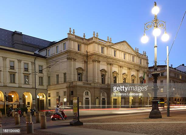 italy, lombardy, milan, teatro alla scala - la scala theatre stock pictures, royalty-free photos & images