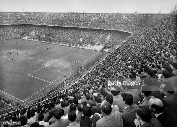 Italy. Lombardy. Milan. View of the stadium during the derby milan-inter. 1959.