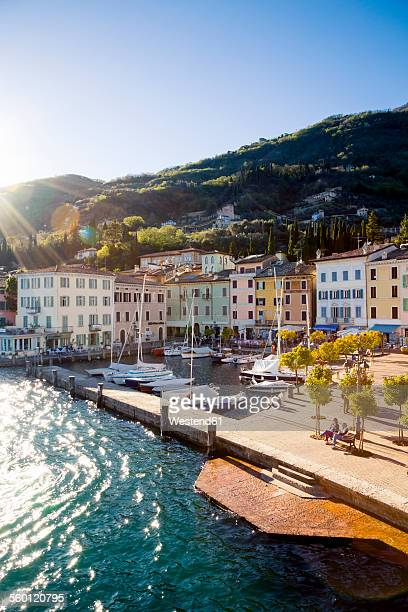 italy, lombardy, province of brescia, view to gargnano - lake garda stock pictures, royalty-free photos & images