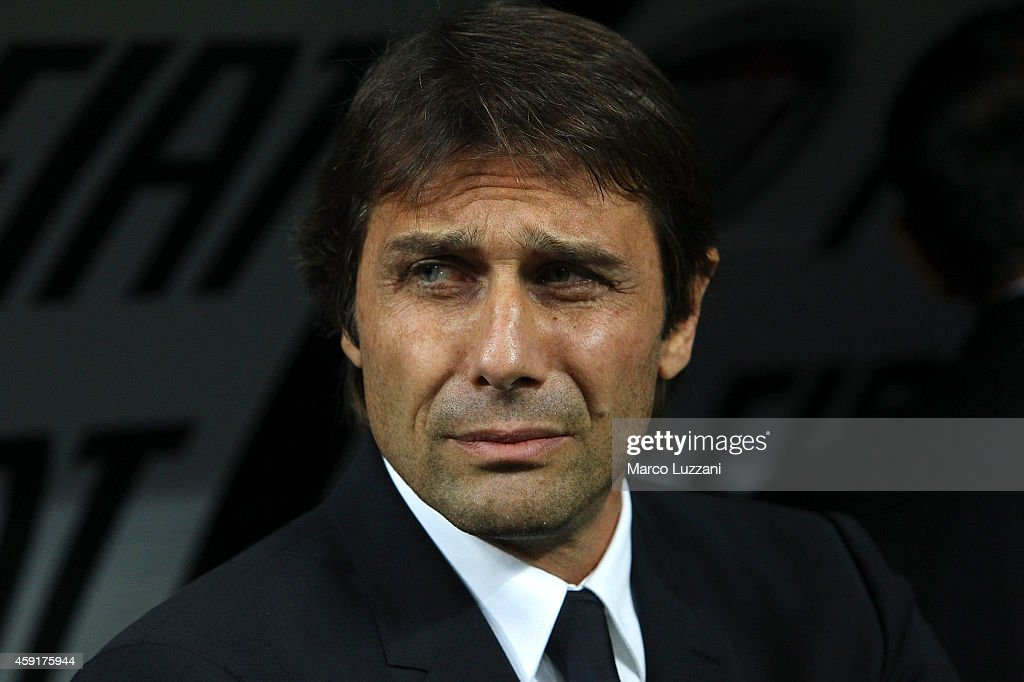 Italy manager Antonio Conte looks on before the EURO 2016 Group H Qualifier match between Italy and Croatia at Stadio Giuseppe Meazza on November 16, 2014 in Milan, Italy.