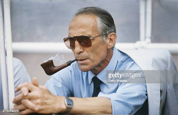 Italy manager Enzo Bearzot smokes his pipe before a match from the 1982 FIFA World Cup Finals in Spain Italy led by Bearzot won the tournament