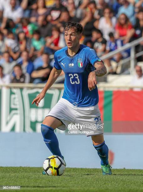Italy midfielder Alessandro Murgia during the International Friendly match between Portugal U21 and Italy U21 at Estadio Antonio Coimbra da Mota on...