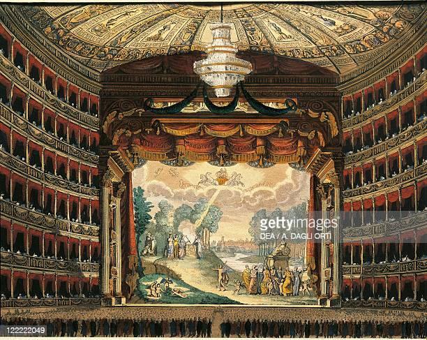 Italy Milan 20th century Teatro alla Scala Interior