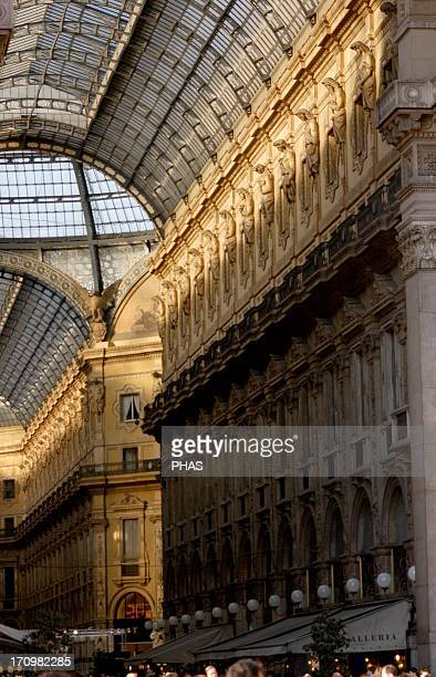 Italy Milan Victor Emmanuel Gallery 18651877 Built by Giuseppe Mengoni Interior