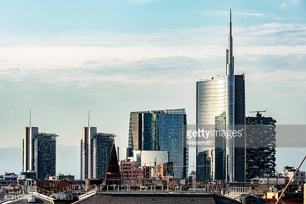 Italy, Milan, view to modern skyscrapers