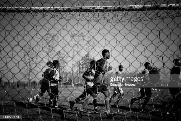 Italy Mortara Refugee Center Football Training