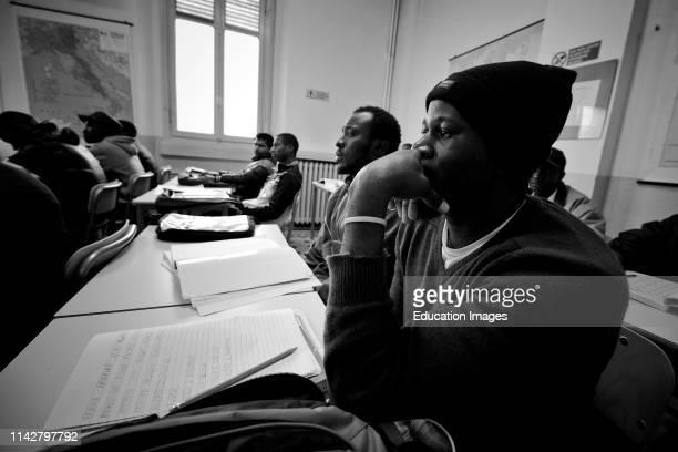 Italy Mortara Refugee Center School For Foreigners