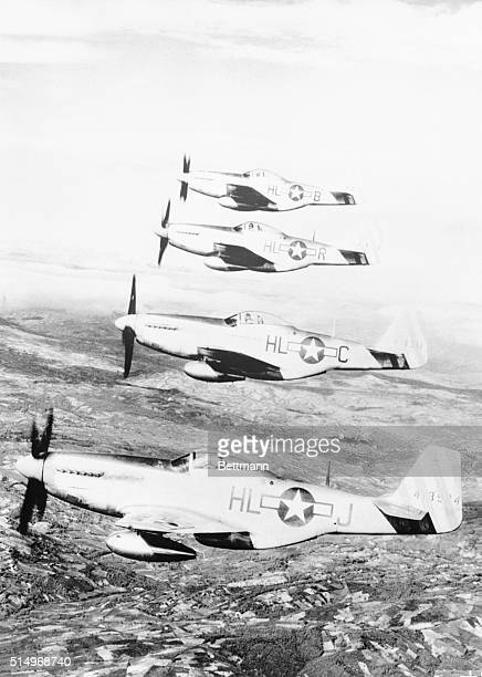 Mustangs On The prowl Over ItalyMustang fighters of the U S Army 15th Air Force fighter command prowl the skies over Italy Note the new teardrop...