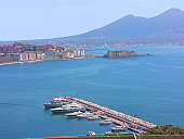 naples italy gulf city from catullo