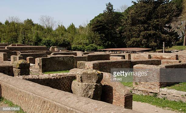 Italy Ostia Antica The Republican Storebuilding was in reality probably a complex of shops and workshops The walls were erected at the end of the 1st...