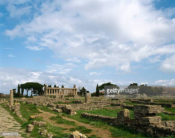 Italy Paestum Temple of Athena or Ceres 6th century BC