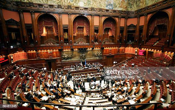 Picture of the Italian parliament taken 22 December 2005 in Rome The parlement approves measures aimed at restoring confidence in the Bank of Italy...