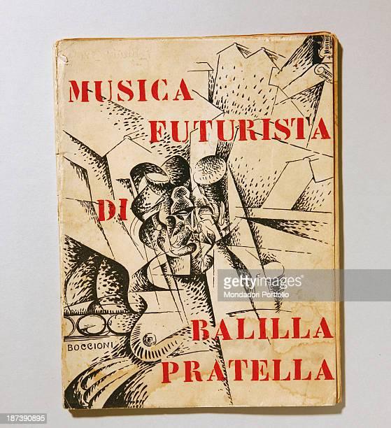 Italy Piedmont Turin Collezione privata Artist's book from the archive of antiquarian bookseller Giorgio Maffei Music futurist book by Boccioni with...