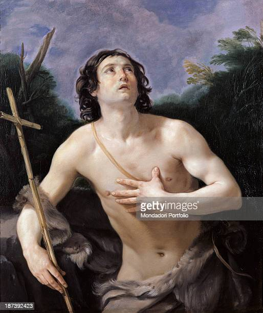 Italy Piedmont Turin Galleria Sabauda All Young man with naked chest and fur holds a processional cross
