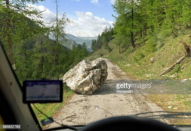 italy, piemont, rockfall in vall de marmora - 巨礫 ストックフォトと画像