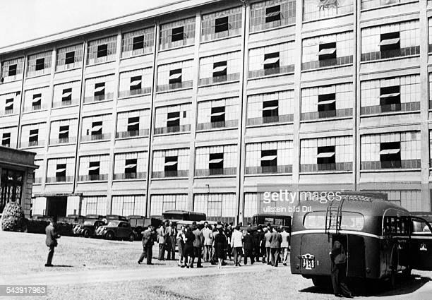 Italy Piemonte Torino Factory of the Fiat in Turin Lingotto 1940 Photographer PresseIllustrationen Heinrich Hoffmann Published by 'Das 12 Uhr Blatt'...