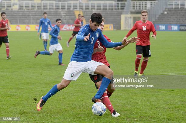 Italy Pietro Pellegri in action during the UEFA European Under17 Championship Qualifier between Italy and Albania at Stadio Bruno Benelli on October...