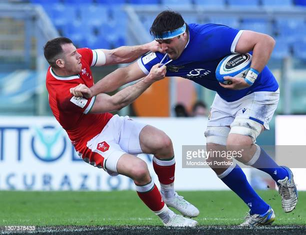 Italy player David Sisi during the Italy-Wales match of the Six Nations tournament at the stadio Olimpico. Rome , 13 March, 2021