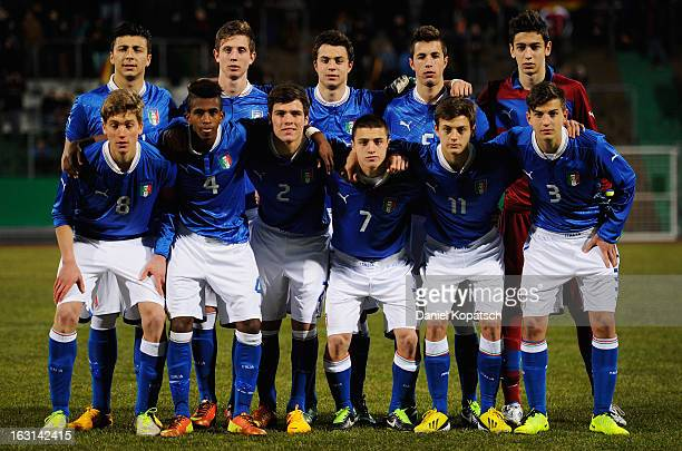 Italy players line up for a team photo prior the U16 international friendly match between Germany and Italy on March 5 2013 at Waldstadion in Homburg...
