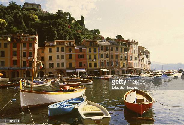 Italy Portofino Boats In Harbor