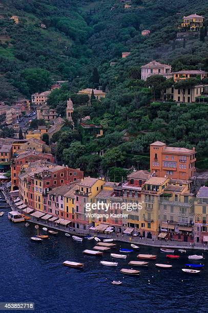 Italy Portofino View Of City With Colorful Houses