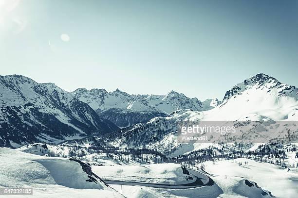 Italy, Poschiavo in winter