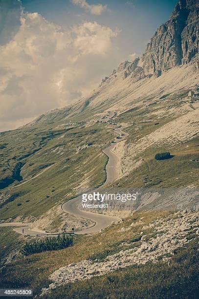 Italy, Province of Belluno, Veneto, Auronzo di Cadore, mountain road near Tre Cime di Lavaredo
