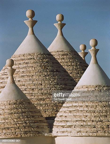 Italy, Puglia, Alberobello, stone roofs of Trulli houses