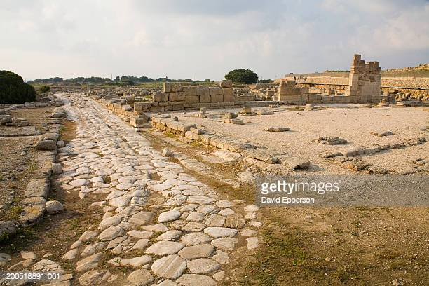 Italy, Puglia, Egnazia, Roman ruins and part of Appian Way