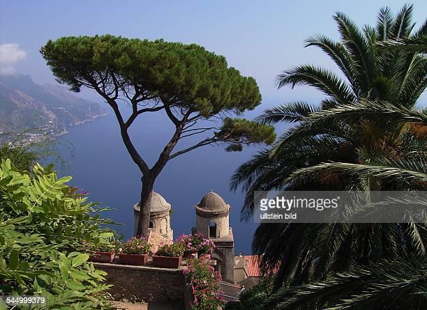 view from the garden of villa Rufolo at the Amalfi Coast