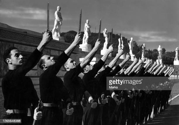 Italy. Rome. Academicians With A Contested Dagger. 1939.