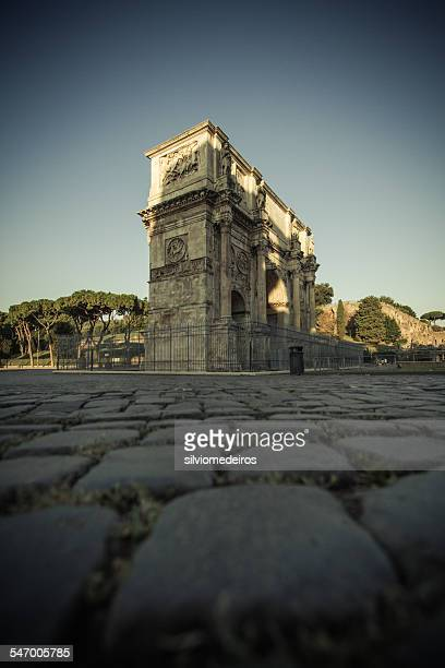 Italy, Rome, Arch of Constantine at sunrise