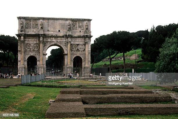 Italy Rome Arch Of Constantine