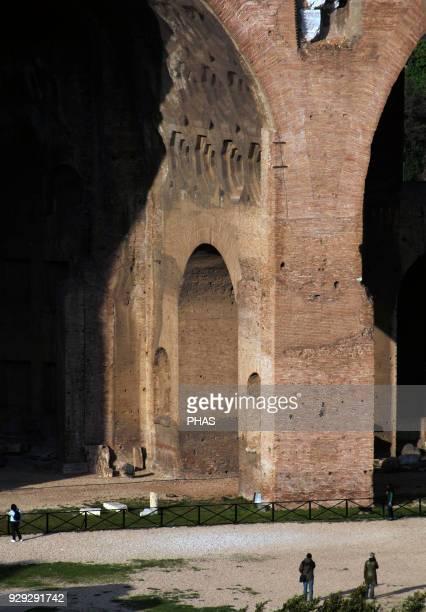 Italy Rome Basilica of Maxentus and Constantine 308312 Ruins Roman Forum