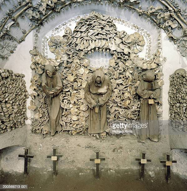 italy, rome, capuchin crypt - crypt stock photos and pictures