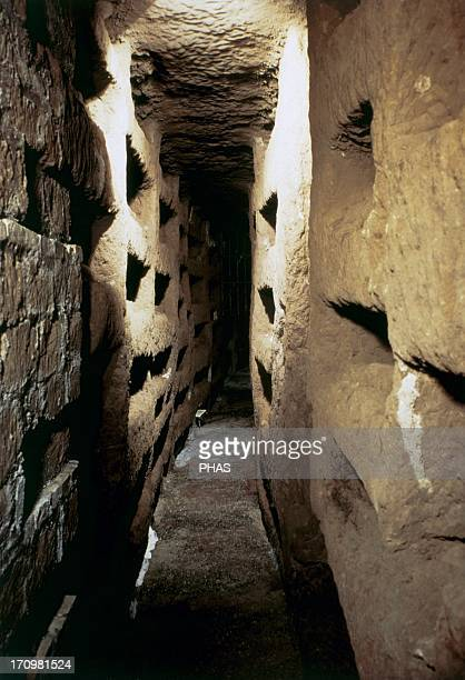Italy Rome Catacombs of Callixtus 2nd 4th centuries Interior