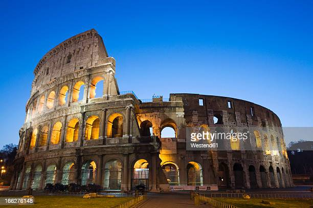 Italy, Rome, Colosseum at night