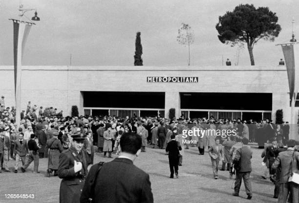 Italy Rome Inauguration Of The Eur Metro 194950