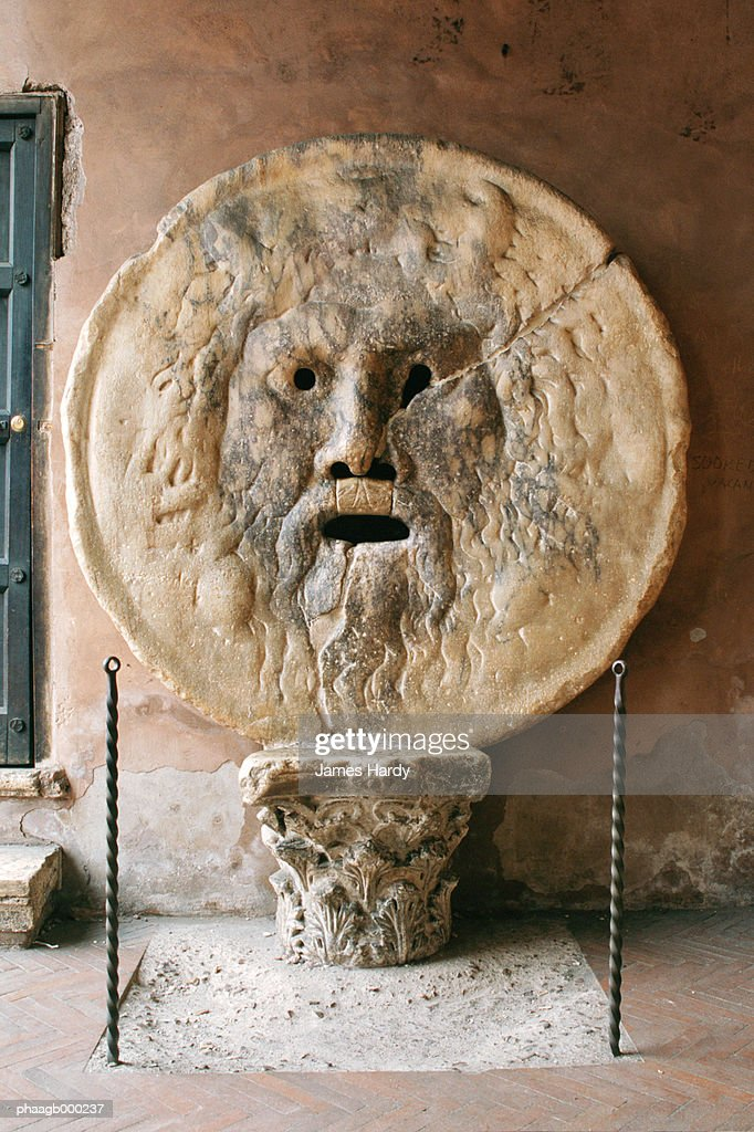 Italy, Rome, Mouth of Truth : Stockfoto