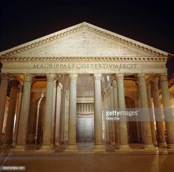 Italy, Rome, Pantheon at night