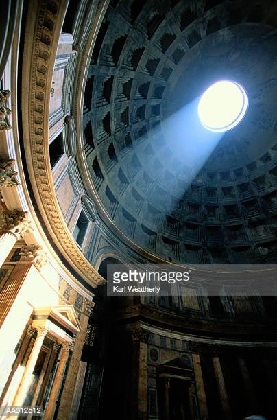 italy, rome, piazza della rotonda, low angle view - pantheon roma foto e immagini stock