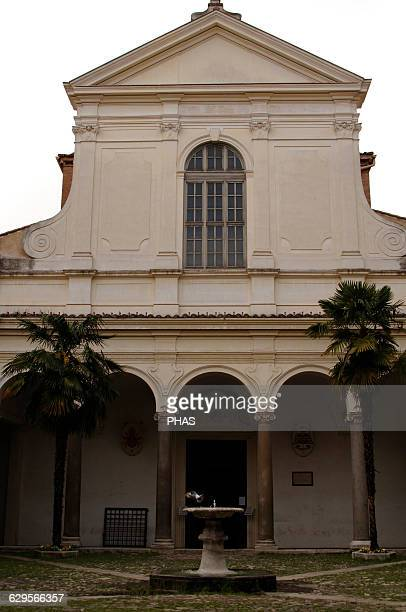 Italy Rome The Basilica of Saint Clement Dedicated to Pope Clement I Founded in 4th century rebuilt in 12th century and rebuilt in 18th century...