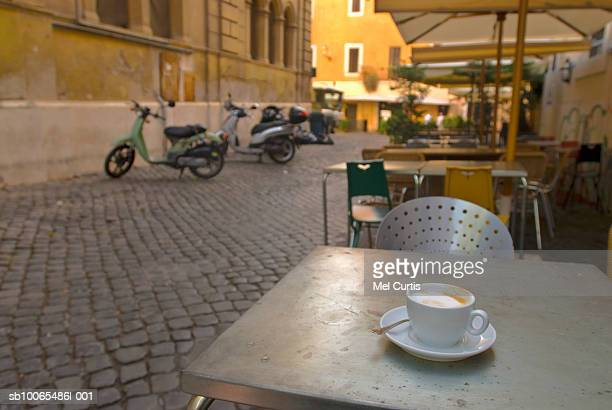 Italy, Rome, Trastevere, cafe table