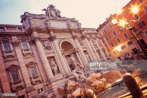 Italy, Rome, Trevi Fountain in early morning