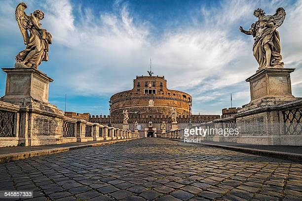 italy, rome, view of castel sant angelo - rome italy stock pictures, royalty-free photos & images